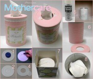 Las Mejores Ofertas de latas leche bebé decoradas para tu bebé
